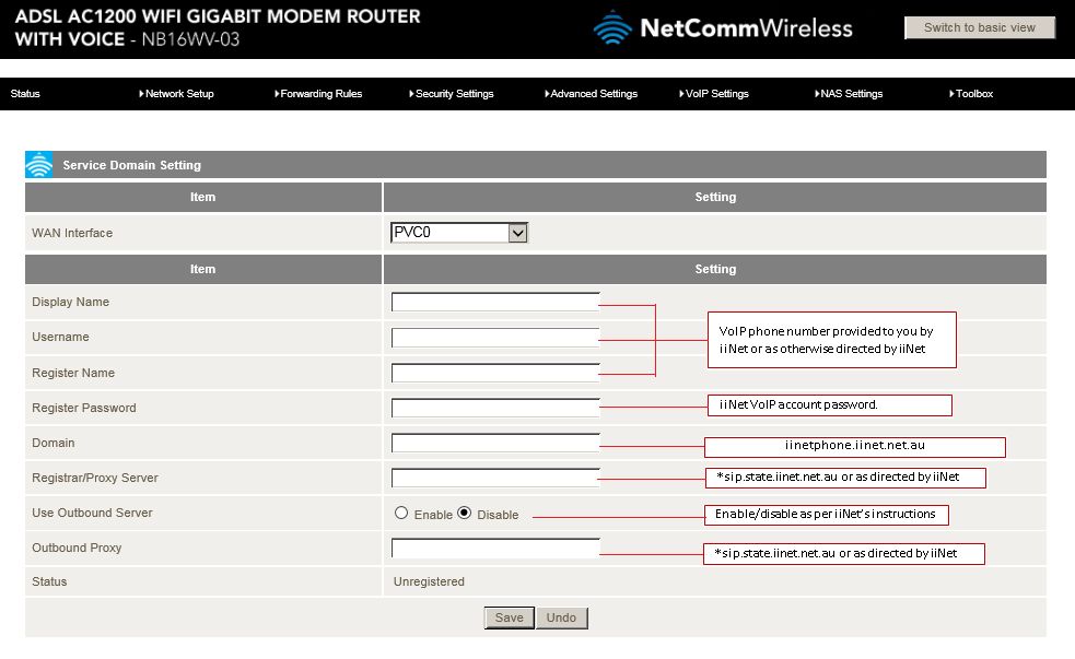 Advanced-View-VoIP-Settings-Configurations-Service-Domain-iiNet