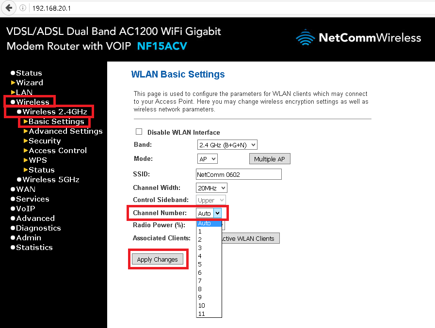 netcomm n300 how to find out support password